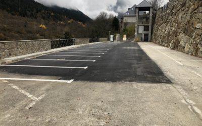 La población de Gèssa finaliza las obras de rehabilitación de su aparcamiento