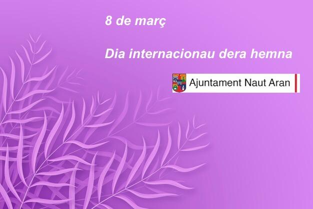 Comunicat 8M Ajuntament de Naut Aran